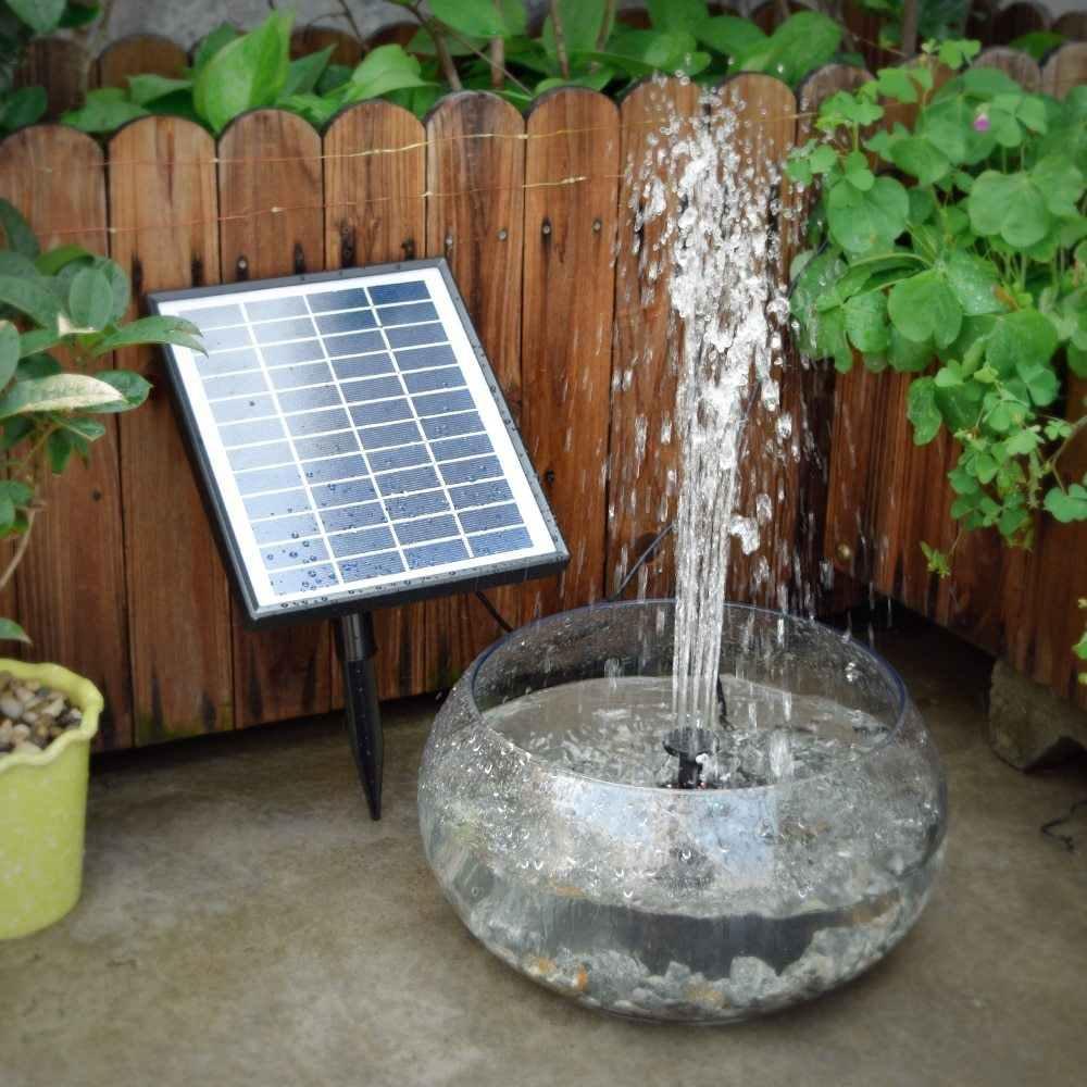 12 В 5 Вт Солнечный Бесщеточный Водяной насос встроенный аккумулятор пульт дистанционного управления погружной светодиодный насос фонтан для садового пруда