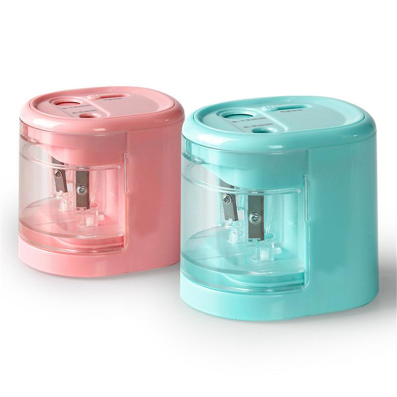 Electric Pencil Sharpener Innovative Automatic Smart Double Hole Primary School Office Stationery Pencil Sharpener StationeryElectric Pencil Sharpener Innovative Automatic Smart Double Hole Primary School Office Stationery Pencil Sharpener Stationery