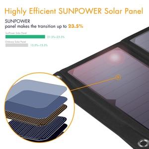 Image 5 - FLOUREON Waterproof Foldable 28W Solar USB Charger Solar Panel Sun Light Energy Phone Charging Triple 3 USB Ports for Outdoors