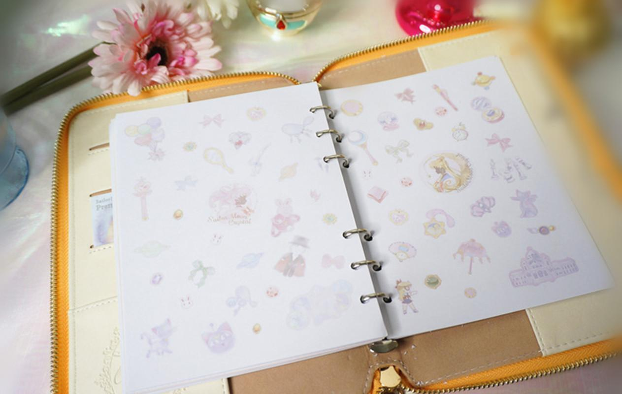 Costume Props Anime Sailor Moon Tsukino Usagi Crystal Princess Serenity Notebook Bronzing Black Cartoon Diary Journal Book Cosplay Gifts Costumes & Accessories