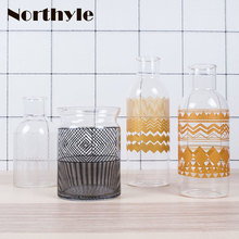 Modern simple style glass flower vase home decoration for wedding terrarium christmas