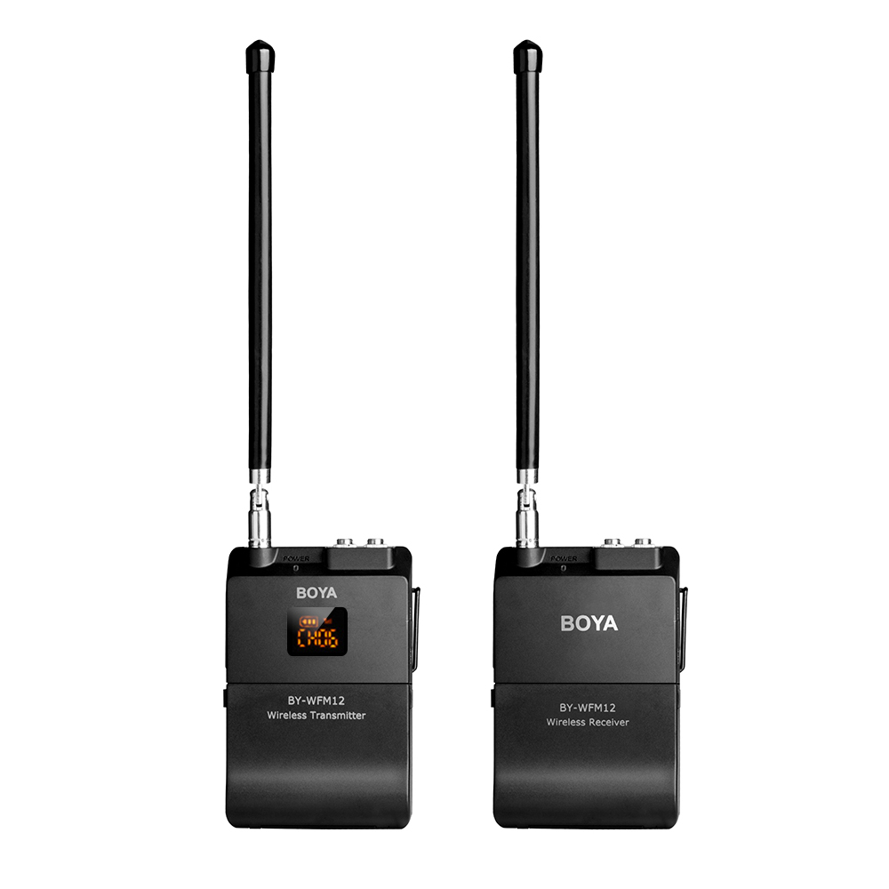 boya by wfm12 vhf wireless microphone system transmitter receiver omni directional lavalier mic. Black Bedroom Furniture Sets. Home Design Ideas