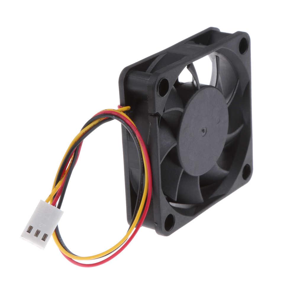 Dovewill 4 piezas 12V 3Pin 60mm Mini 6cm ventilador silencioso computadora ventilador de refrigeración PC