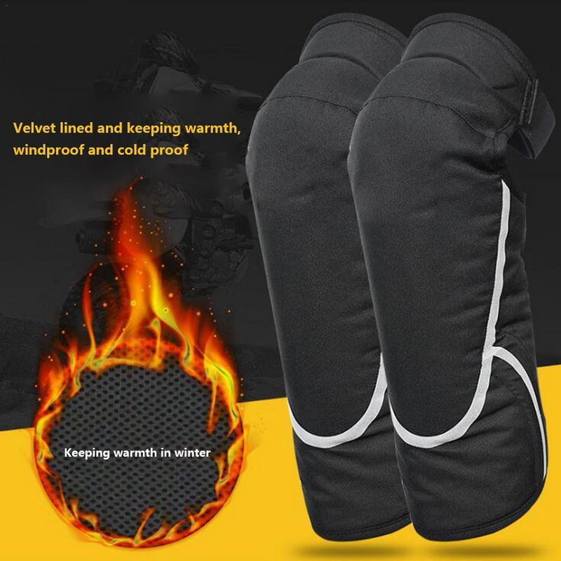 Für Herbst Und Winter Winddicht Warme Kneepads Motorrad Knie Pads Motorrad Roller Bein Protector Leggings