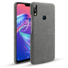 For Asus Zenfone Max Pro M2 ZB631KL Case Slim Woven Fabric Cloth Hard PC Cover ZB633KL ASUS ZB602KL