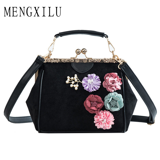 9148f5784356 Famous Spanish Brand Woman Bags 2019 Purses for Women High Quality Tote  Handbags Flower Pearl Ladies