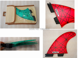 Image 5 - Colorful Surfboard Fin green orange Thruster Future FCS1 II Surf fins G5 M carbon Fiberglass Surfing Accessoire