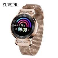 Women Wristband New Fashion 3D Diamond Glass Calories Heart Rate Blood Pressure Sleep Monitor Waterproof Watch SL08