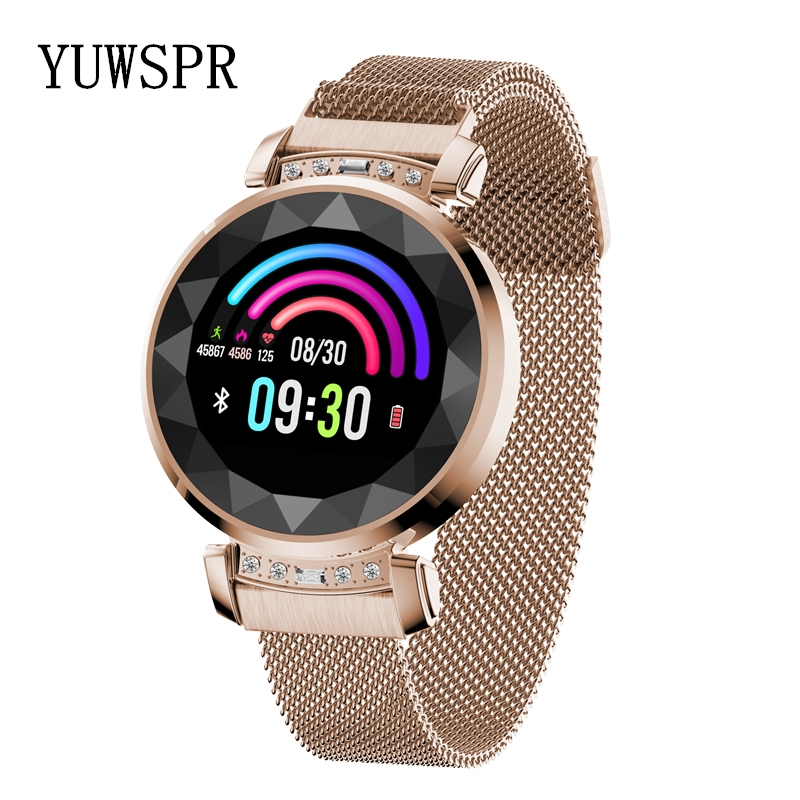 Women Wristband New Fashion 3D Diamond Glass Calories Heart Rate Blood Pressure Sleep Monitor Waterproof <font><b>Watch</b></font> SL08 image