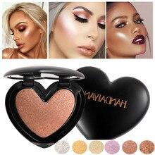 HANDAIYAN Shimmer Makeup Pallete Highlighter Illuminator Face Contour Golden Bronzer Gold And Contouring Palette