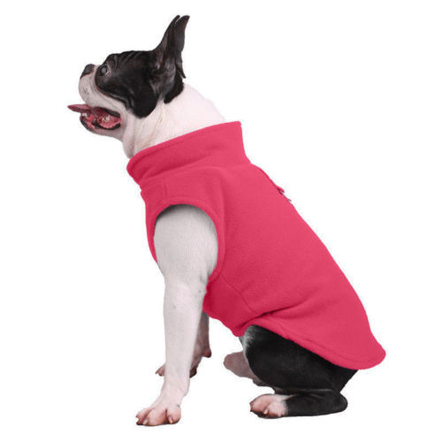 Dog Pet Puppy T-Shirt Jacket Fleece Vest Clothes Coat Apparel Costumes Warmer 4