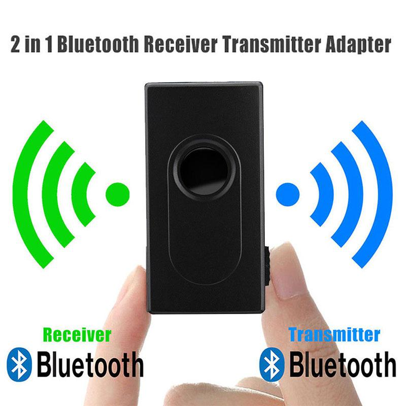 HobbyLane 2 in 1 <font><b>Bluetooth</b></font> Transmitter <font><b>Receiver</b></font> Wireless 3.5mm Stereo Audio Music Adapter with aptX & aptX for TV DVD Mp3 d15 image