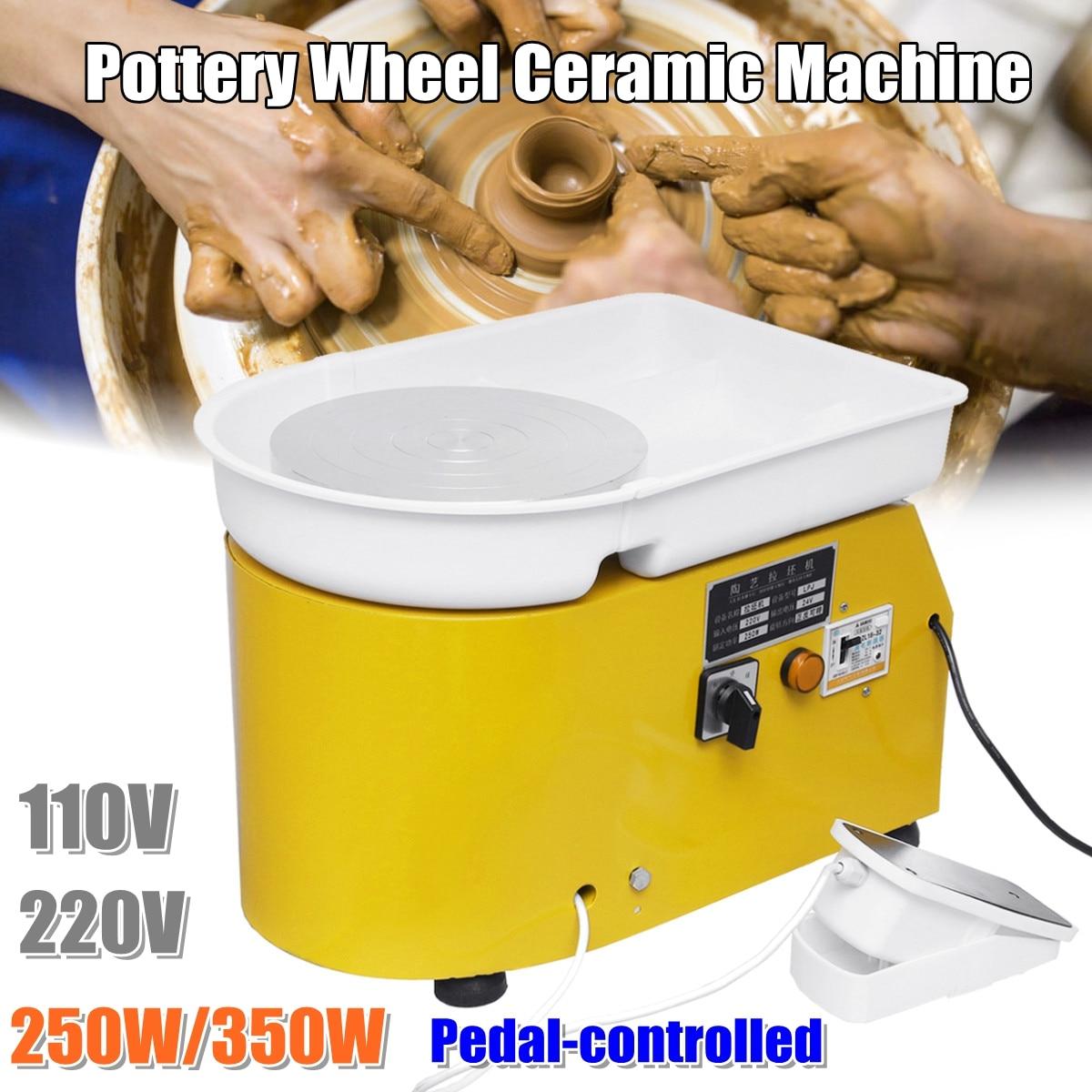 Tourne-disque 250 W/350 W Tours électriques roue poterie Machine céramique argile potier Art pour céramique travail céramique 110 V/220 V