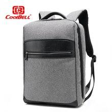 цены Cool Bell Waterproof Backpack Men Women Laptop Backpack 15/15.6 inch Male Backpack Casual School Backpack for Teenage Boys Girls