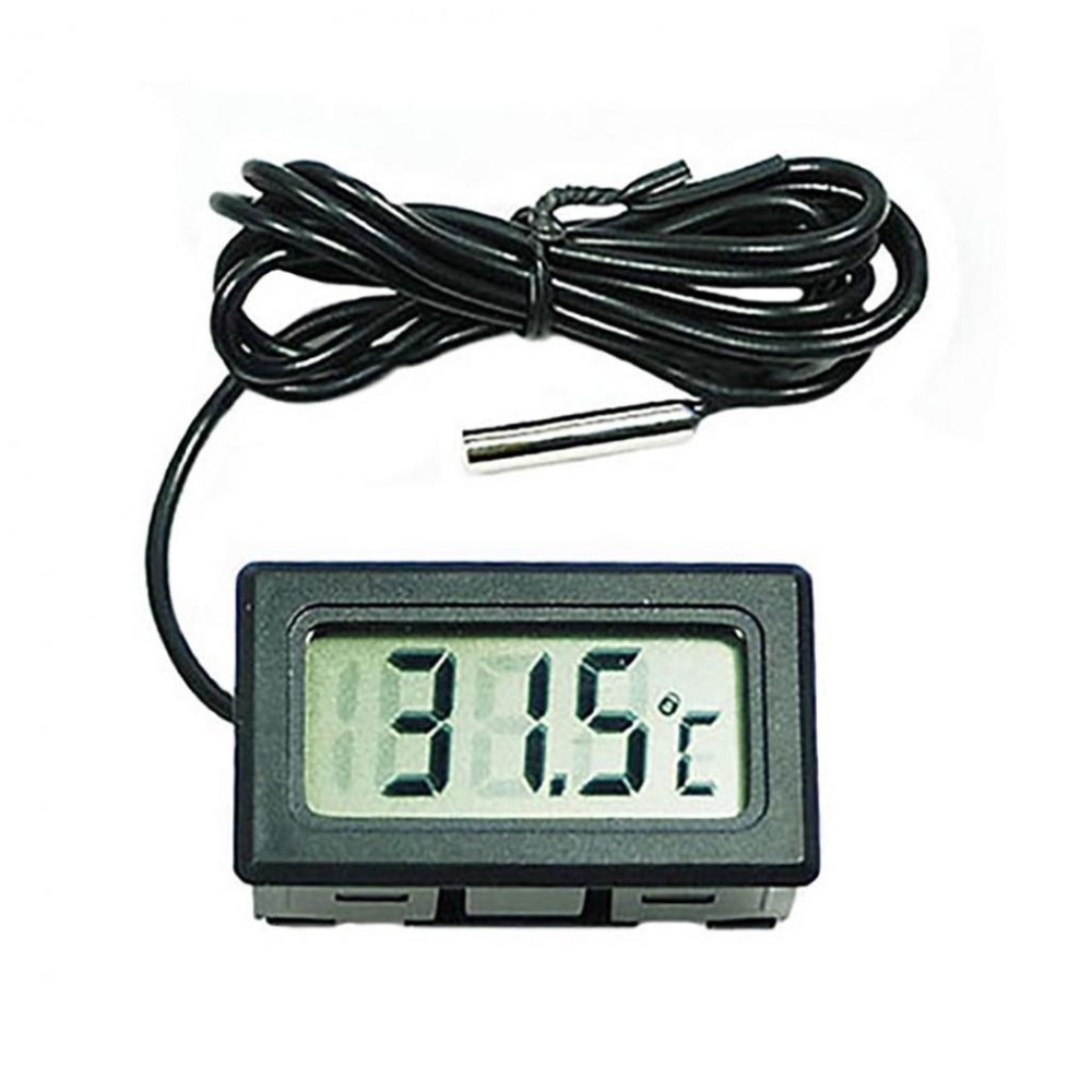 Mini Digital LCD Thermometer Hygrometer Temperature Humidity Meter Probe Sensor Car Water Pop Aquarium Water Thermometer