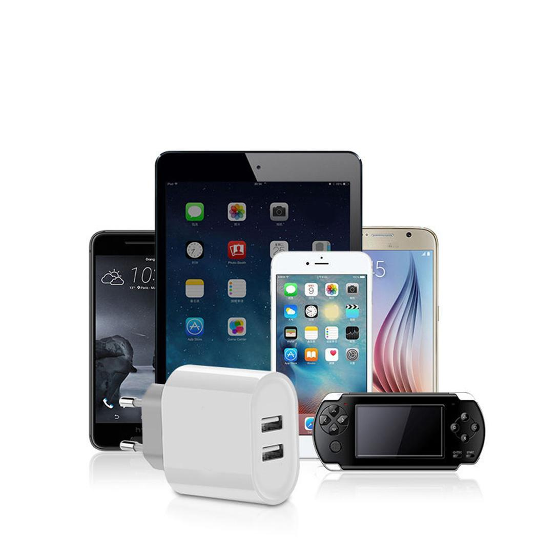 Wall Mobile Power EU Dual Port USB Charger weight and Light charging fast Phones Travel Fast For Adapter durable Plug