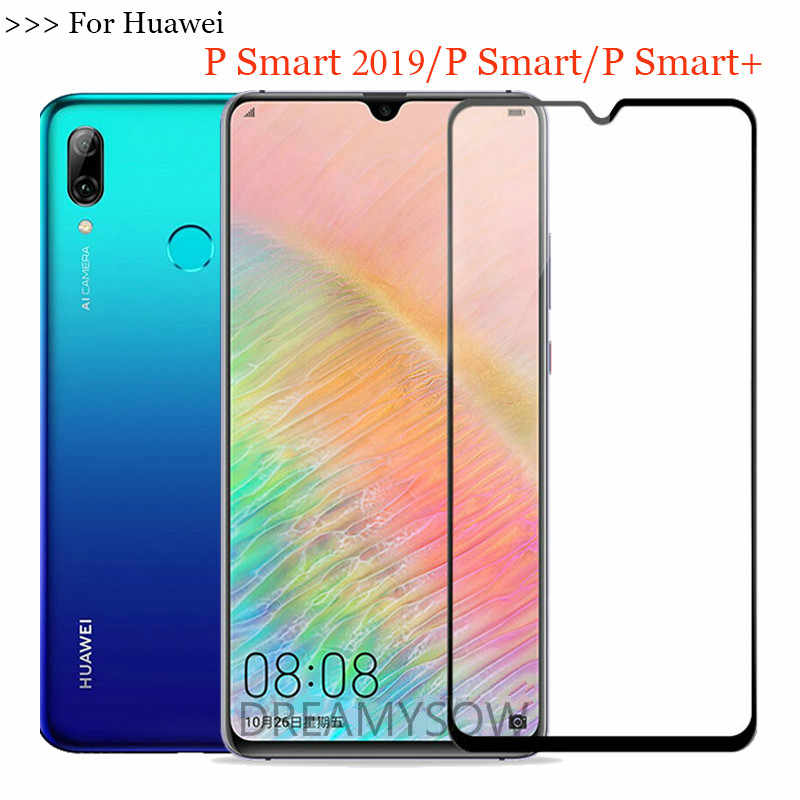Tempered Glass For Huawei Y6 Y9 P Smart 2019 Glass For P Smart Plus Nova 4 3i Honor 8X 8A protective Film Protection Full Cover