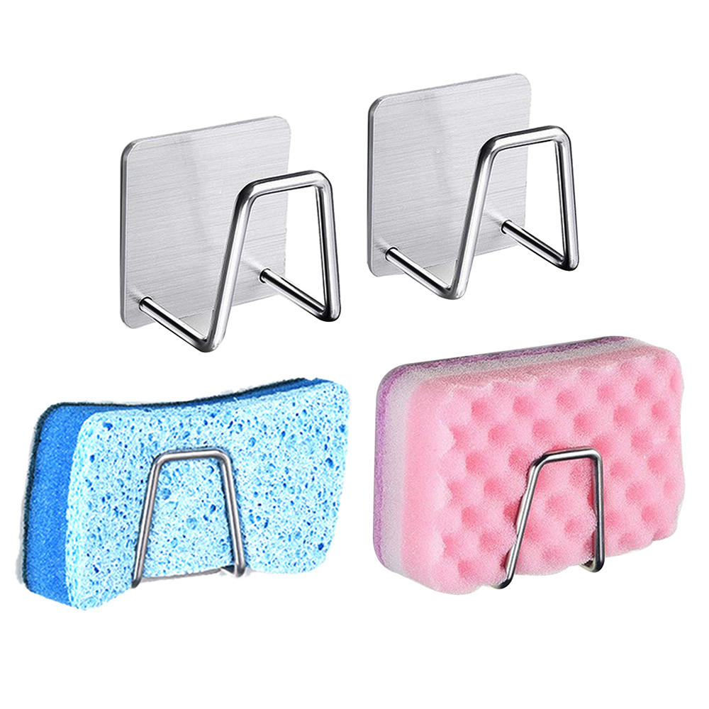 1PC Stainless Steel Sponge Drain Rack Sponge Holder Durable Dishwashing Holder Sink Organizer Sink Sponge Hanger Drainer Rack