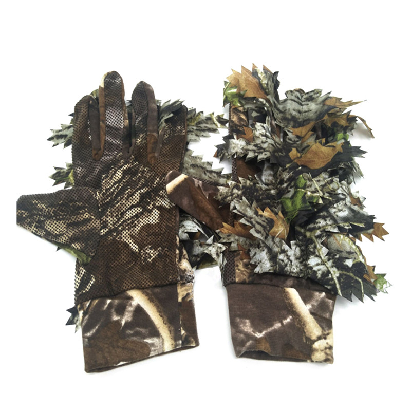 Leaf-Gloves Ghillie-Suits Hunting Camouflage Outdoor 3D Fishing 1-Pair Cycling Sport