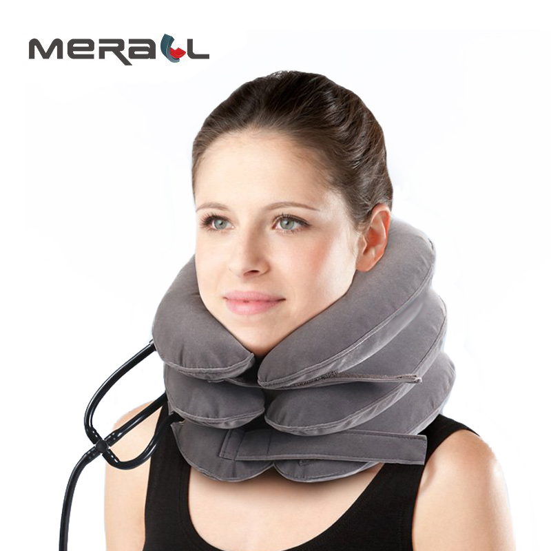 High quality Cervical Traction Collar Medical PVC line Neck Massage Device Support Brace Posture Corrector Pain Relief neck care new neck cervical traction device inflatable collar head back shoulder neck pain headache health care massage device