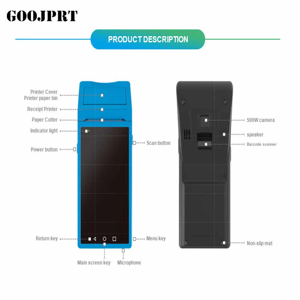 Genggam POS Komputer Android PDA dengan 5.5 Inci 3G WIFI Bluetooth