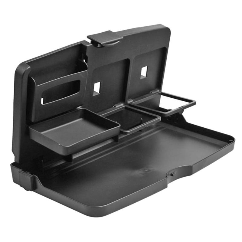 Mesa De Plástico Dobrável Universal Auto Car Back Seat Drink Food Tray Copa Stand Holder Dobrável Mesa Mesa Comida Estilo Do Carro nova