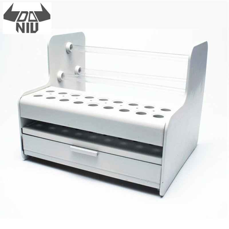DANIU White Mainframe Parts Storage Box Mobile Phone Screwdriver Tweezers Tool Box with Holes Maintenance Accessories Rack Hand Tool Sets     - title=