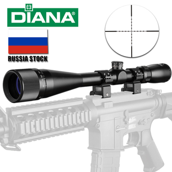 DIANA 6-24x42 AO Tactical Riflescope Mil-Dot Reticle Optical Sight Rifle Scope Airsoft Sniper Rifle hunting scopes цена 2017