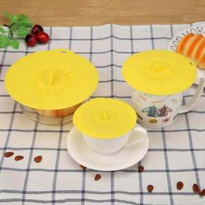 SANGEMAMA Drinking Lid Silicone Bowl Cover Cup Glass Mugs