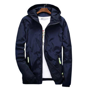 Jacket Men's Large Size Summer Bomber Spring Windbreaker cloth Streetwear Coat Hood 2019 Fashion Male Clothing 7XL Plus Size 6XL - DISCOUNT ITEM  40% OFF All Category