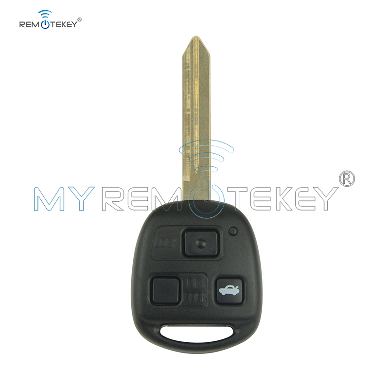 Remtekey 736670-A <font><b>Remote</b></font> <font><b>key</b></font> 3 <font><b>button</b></font> 434mhz no chip TOY47 blade for <font><b>Toyota</b></font> <font><b>Avensis</b></font> 2004 2005 2006 2007 2008 2009 image