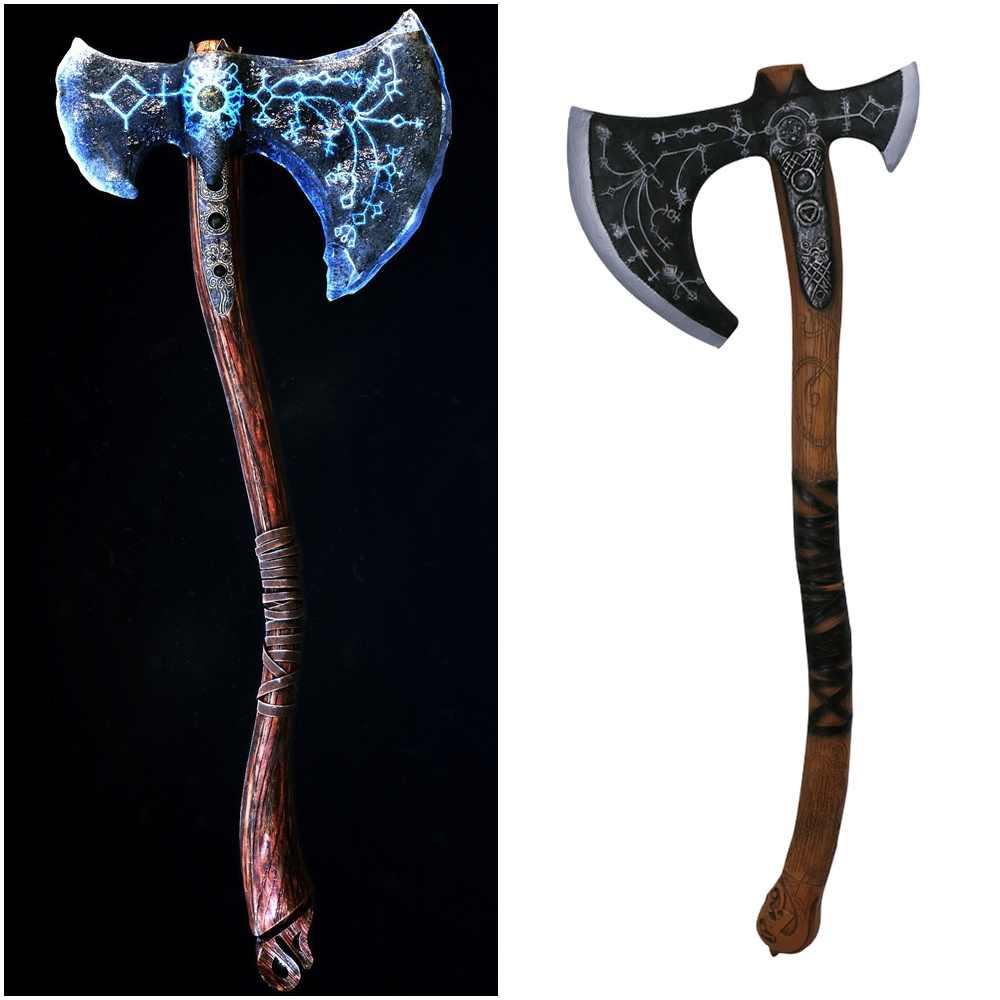 Game God Of War Kratos Leviathan Axe Weapon Cosplay Prop