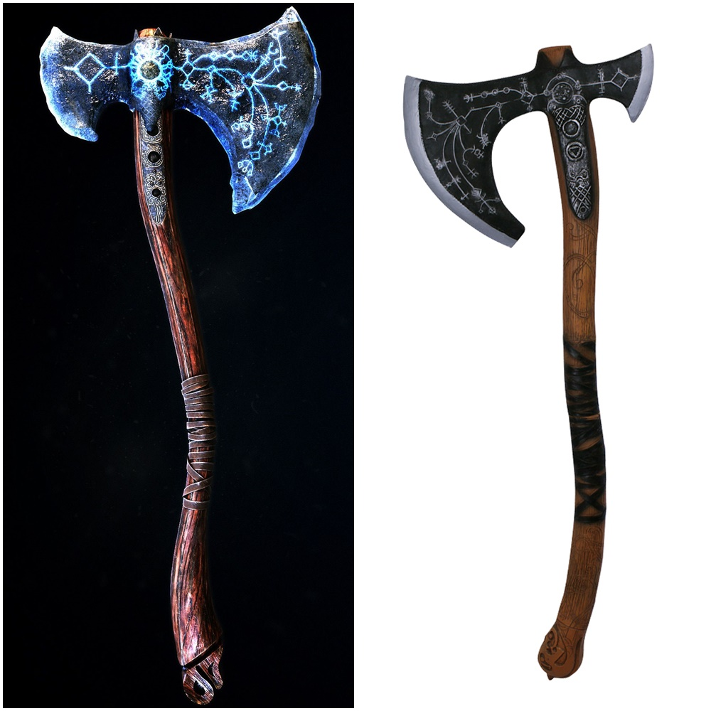 Us 47 4 5 Off Game God Of War Kratos Leviathan Axe Weapon Cosplay Prop Halloween Props In Costume Props From Novelty Special Use On Aliexpress