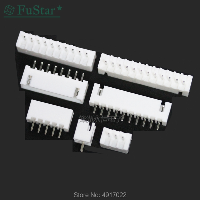20Pcs XH 2.54mm Spacing Series Straight Needle Seat Jst Xh Connector White XH-2A XH-10A XH2.54 -2P 10P 3P 4P 5P 6P 7P 8P 9P 12P
