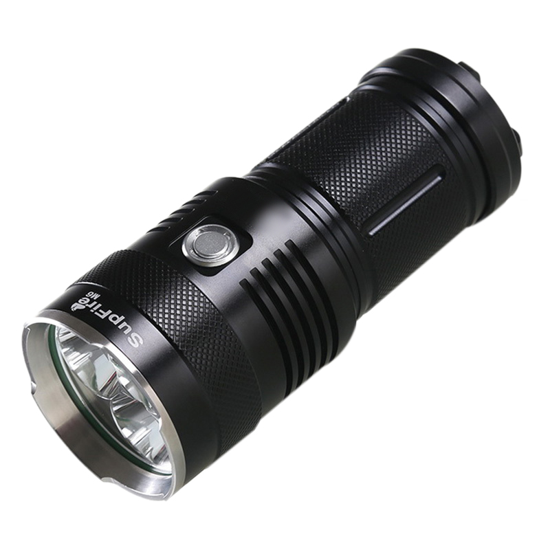 SUPFIRE D'origine M6 Puissant lampe de poche led 3 Xm-L T6 2000 Lumens 30 W lampe de poche tactique 4X18650 Batterie