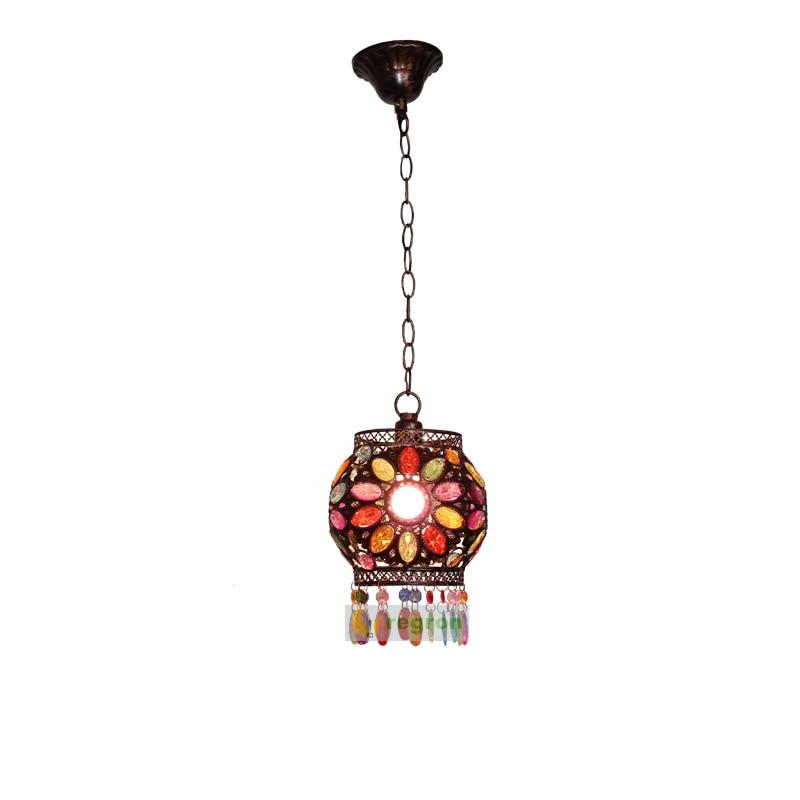 Nepalese creative Vintage Lamp Spherical American Lantern Hanging Lights bar  Dining Room Lights Led Lighting LuminaireNepalese creative Vintage Lamp Spherical American Lantern Hanging Lights bar  Dining Room Lights Led Lighting Luminaire