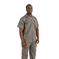 Work Clothing Man Uniform Short sleeve Coveralls Protective Cloth for Worker Repairman Machine Auto Repair Welding DYF022