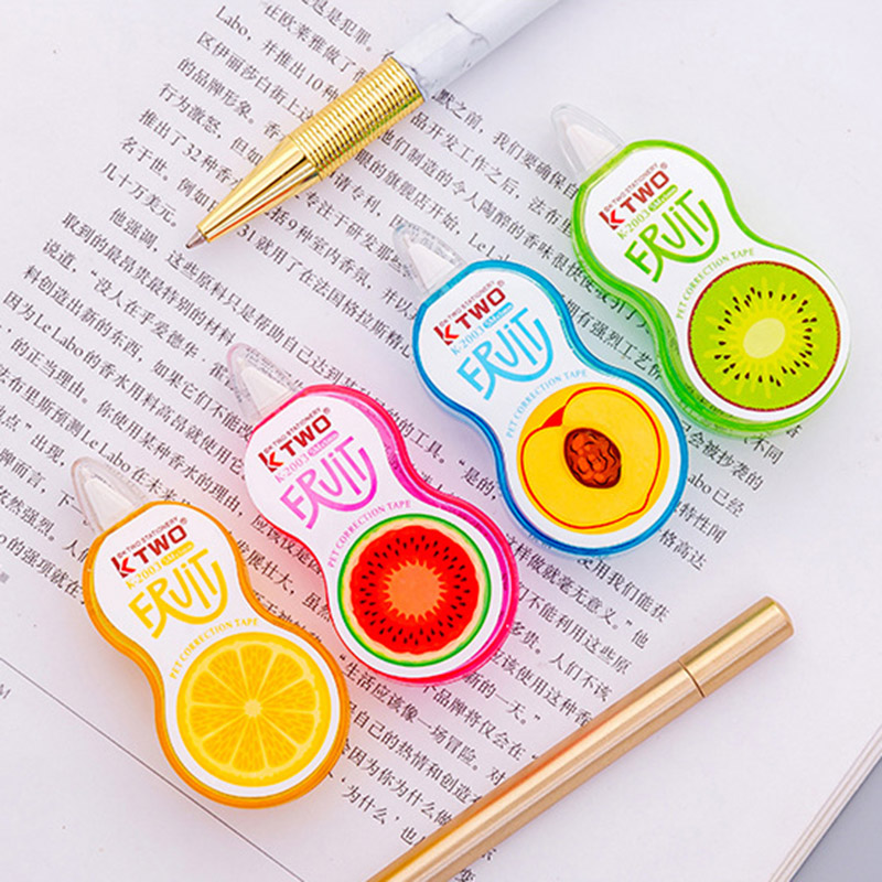 1PC Lovely Cartoon Pig Press Correction Tape Kawaii Fruit Tapes School Writing Corrector Tool Office Supplies Korean Stationery