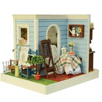 1/24 Miniature Dollhouse Kit DIY Wooden Two Sided Doll House Model with Furniture LED Lights Toys Gift for Children Kids Adult