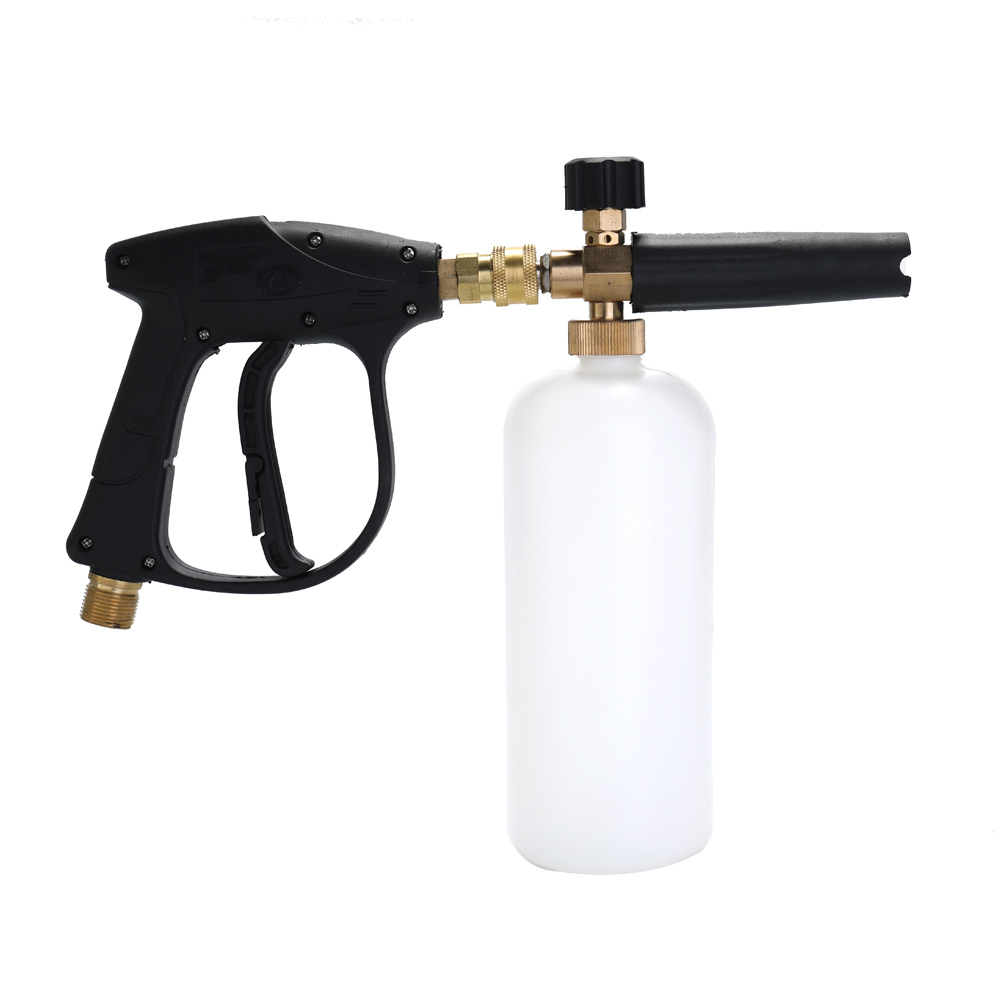 Adjustable Car Wash Watering Can 1L with HDPE and Brass Soap Foam Pressure Washer Spray Cylinder Bottle Mouth with Spear Tools(China)