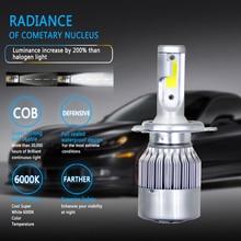 1X H7 9004 9005 H4 Led H4 รถ Headlights72w 8000lm หลอดไฟ LED รถยนต์ไฟหน้า 6000 k led 12 v หมอกไฟ C6 รถ Led