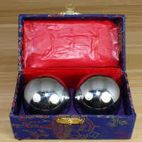 38mm Sliver Chinese Health Exercise Stress Relaxation Therapy Baoding Balls