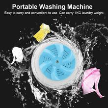 Mini Portable Ultrasonic Vibration Washing Machine Stains Remover