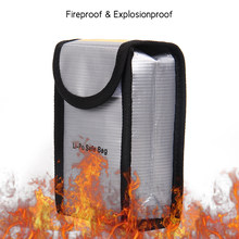 Fireproof Explosionproof Lipo Battery Safe Bag Heat Resistant Pouch Sack for DJI Phantom 3 Battery Storage 140 * 90 * 55mm(China)