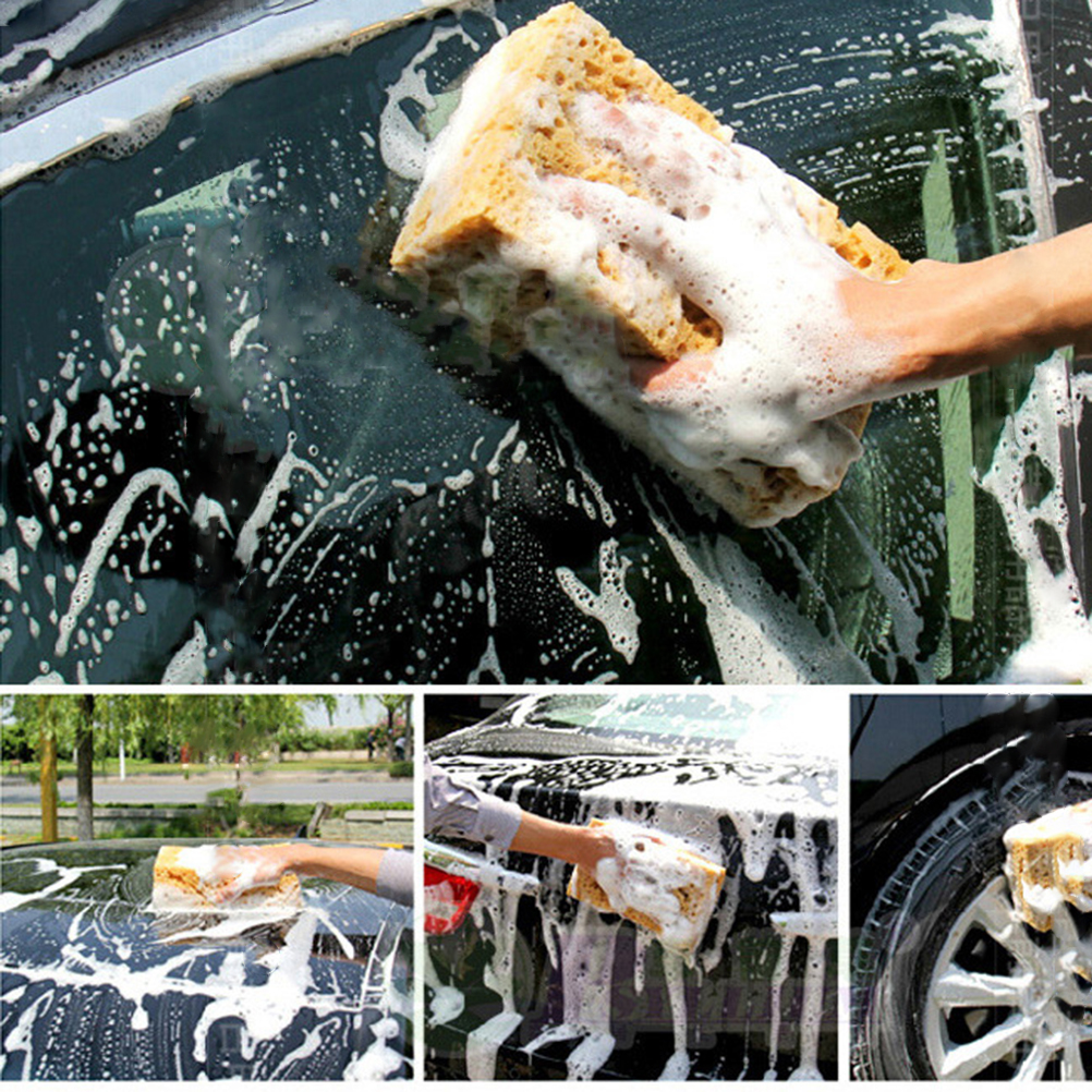 Household Cleaning Sponges & Scouring Pads Car Sponge Wash Honeycomb Cleaning Car Wheel Foam Multi-use Sponges For Home Kitchen Bathroom Cleaning Sponge Cleaner