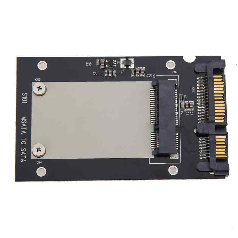 MSATA SSD إلى 2.5in SATA محول محول بطاقة الكمبيوتر الانتقالية 50x30mm SSD حالة يدعم ويندوز فيستا لينكس ماك