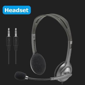 Image 5 - Logitech H110/H111 zestaw słuchawkowy Stereo z mikrofonem 3.5mm słuchawki przewodowe