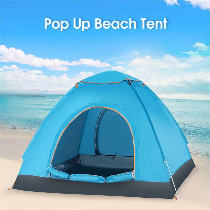 SGODDE 3-4 Person 210T Oxford Cloth Waterproof Sun-proof Tent For Beach Backyard Camping Hiking Outdoor SportsSGODDE 3-4 Person 210T Oxford Cloth Waterproof Sun-proof Tent For Beach Backyard Camping Hiking Outdoor Sports