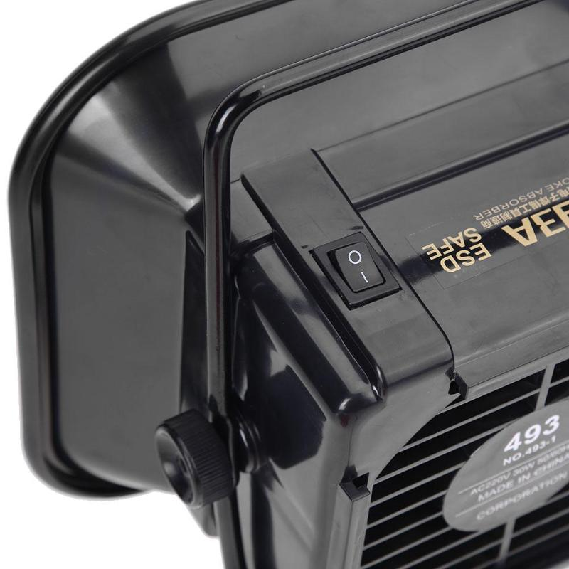 Welding Equipment New Professional Solder Iron Smoke Absorber Fume Extractor Air Filter Smoke Fan Tool Welding Provement Instrument Tool 30w 493