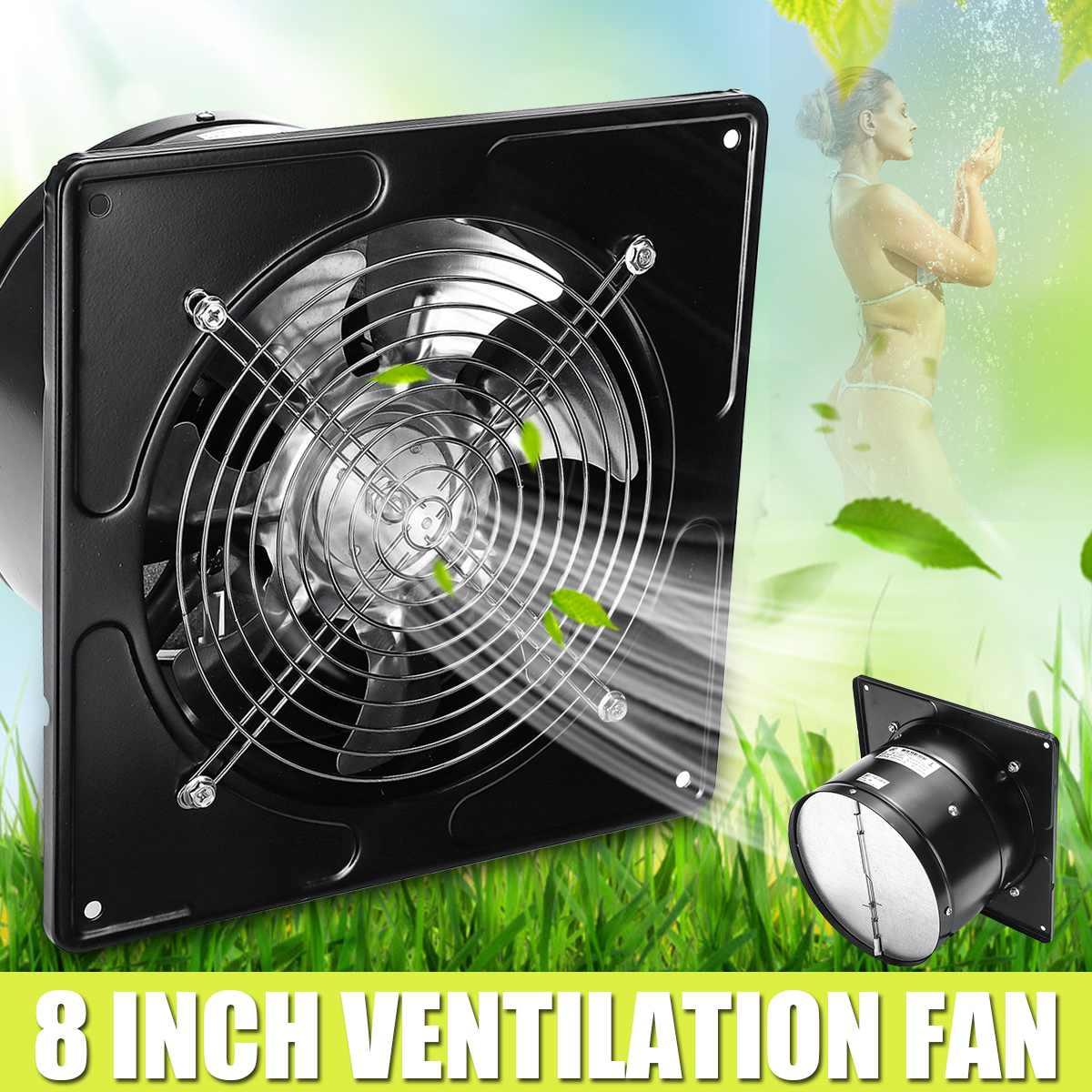 8 ''mur fenêtre extracteur ventilateur de Ventilation 80 W maison salle de bains cuisine toilette ventilateur évents industriel panneau d'échappement ventilateur 200mm